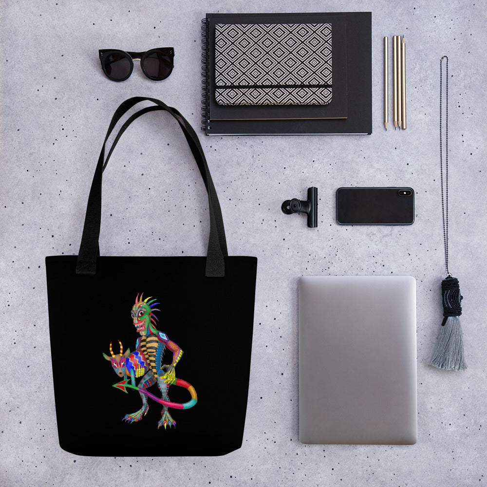 Chupacabra And Goat Tote bag