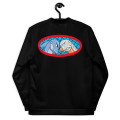 Sharks vs Jets Unisex Bomber Jacket - Hebkid Art