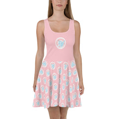 Cotton Candy Unicorn Skater Dress - Hebkid Art