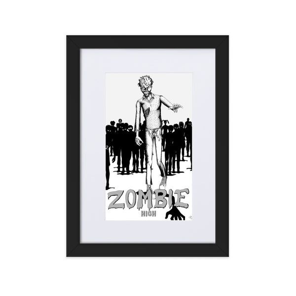 Zombie High Matte Paper Framed Poster With Mat