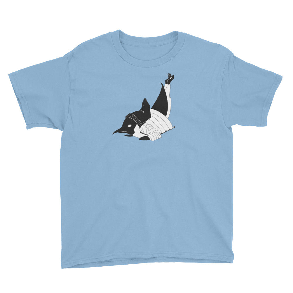 Breakdancin' Penguin Youth Short Sleeve T-Shirt