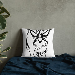 Beware The Bigfoot Premium Pillow