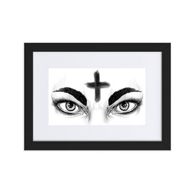 Ash Wednesday Matte Paper Framed Poster With Mat - Hebkid Art