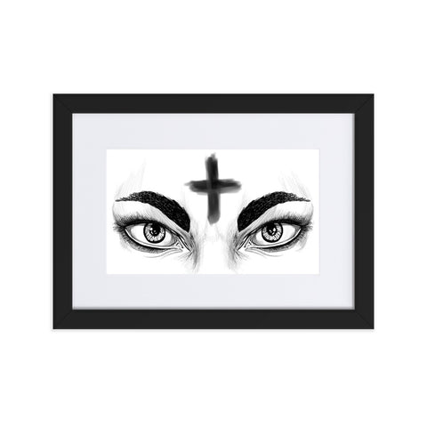 Ash Wednesday Matte Paper Framed Poster With Mat