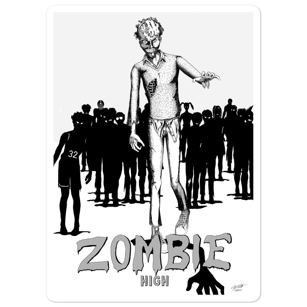 Zombie High Bubble-free stickers - Hebkid Art
