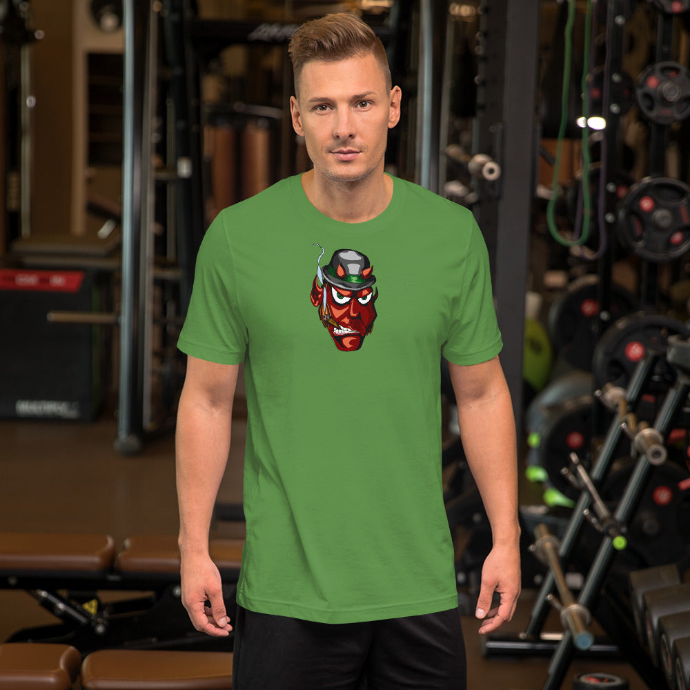 Irish Devil Short-Sleeve Unisex T-Shirt - Hebkid Art