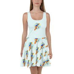 Rocket Fox Brigade Skater Dress - Hebkid Art