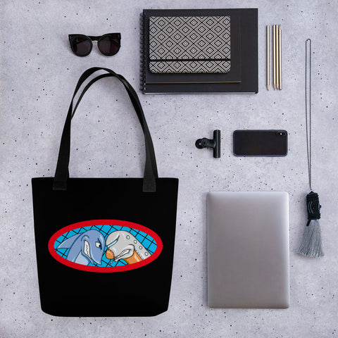 Sharks vs Jets Tote bag
