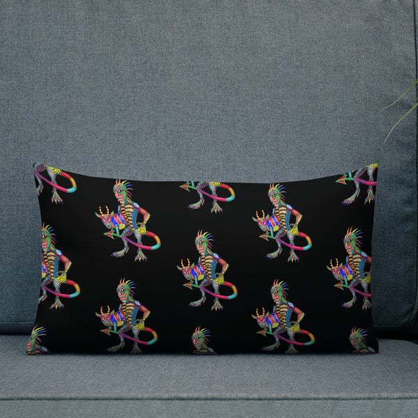 Chupacabra And Goat Premium Pillow