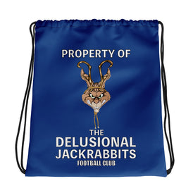 Delusional Jackrabbits Drawstring bag