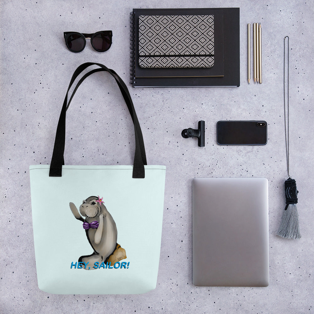 Siren Sea Cow Tote bag - Hebkid Art
