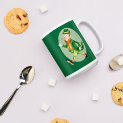 Old Timey Cartoon Leprechaun Mug