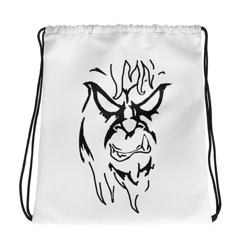 Beware The Bigfoot Drawstring bag - Hebkid Art