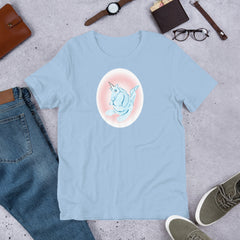 Cotton Candy Unicorn Short-Sleeve Unisex T-Shirt - Hebkid Art