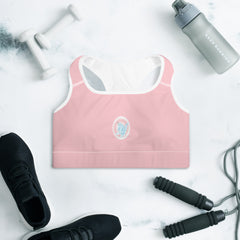 Cotton Candy Unicorn Padded Sports Bra - Hebkid Art
