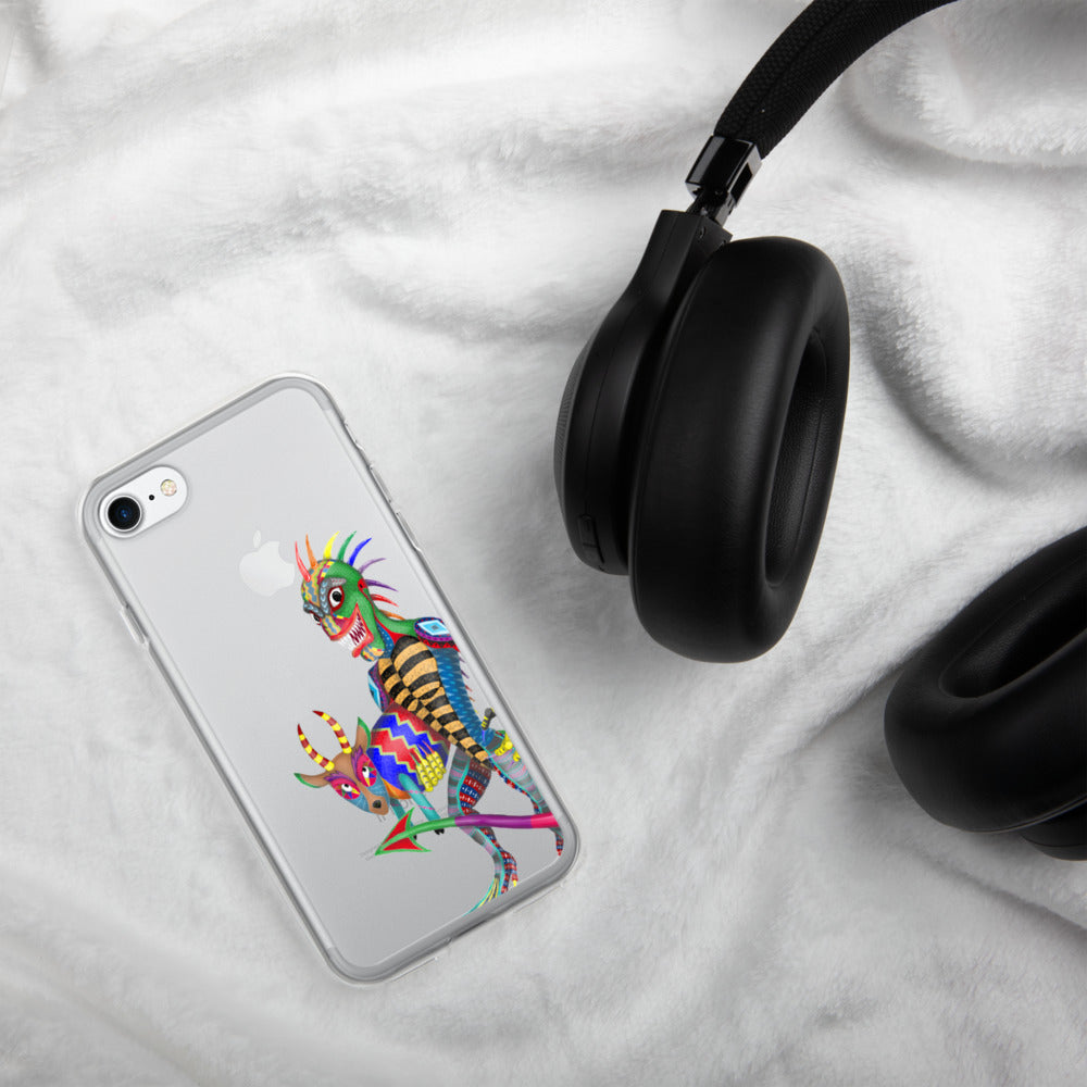 Chupacabra And Goat iPhone Case - Hebkid Art