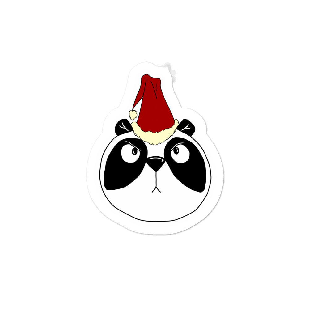 Pissed Off Christmas Panda Bubble-free stickers