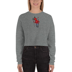 Little Devil Crop Sweatshirt - Hebkid Art