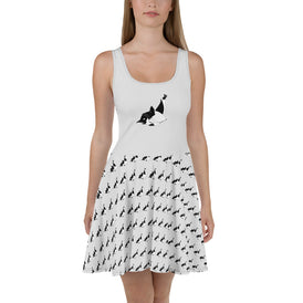 Breakdancin' Penguin Skater Dress - Hebkid Art