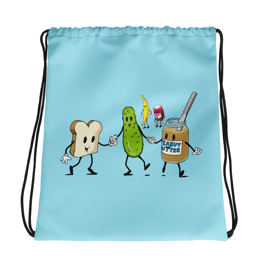 The Peanut Butter Solution Drawstring bag - Hebkid Art