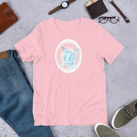 Cotton Candy Unicorn Short-Sleeve Unisex T-Shirt
