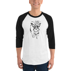 Beware The Bigfoot 3/4 sleeve raglan shirt - Hebkid Art