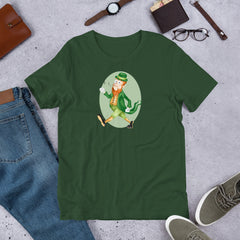 Old Timey Cartoon Leprechaun Short-Sleeve Unisex T-Shirt
