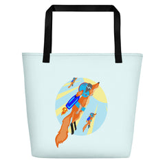 Rocket Fox Brigade Beach Bag - Hebkid Art