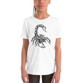 Scorpion Youth Short Sleeve T-Shirt - Hebkid Art