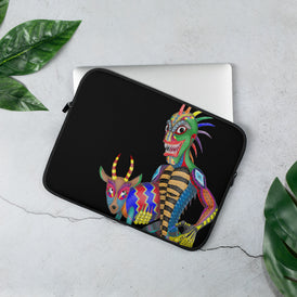 Chupacabra And Goat Laptop Sleeve