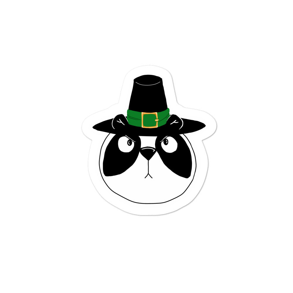 Pissed Off Thanksgiving Panda Bubble-free stickers