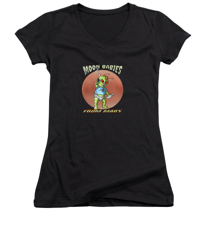 Moon Babies From Mars - Women's V-Neck