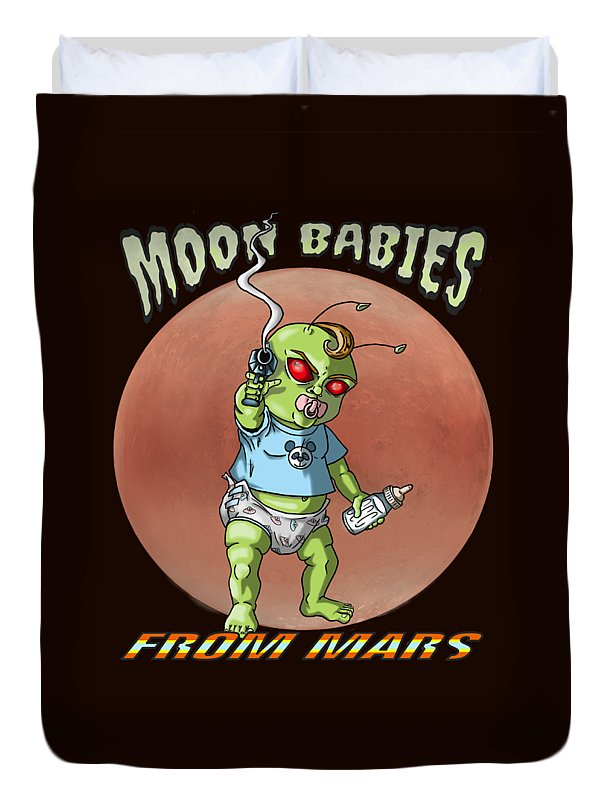 Moon Babies From Mars - Duvet Cover - Hebkid Art