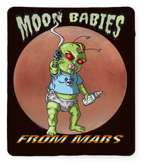Moon Babies From Mars - Blanket - Hebkid Art