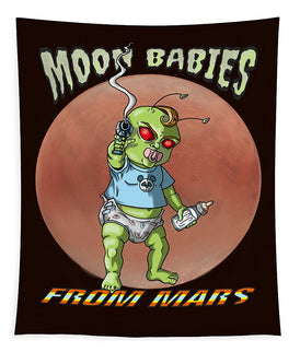 Moon Babies From Mars - Tapestry - Hebkid Art