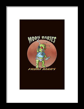 Moon Babies From Mars - Framed Print - Hebkid Art