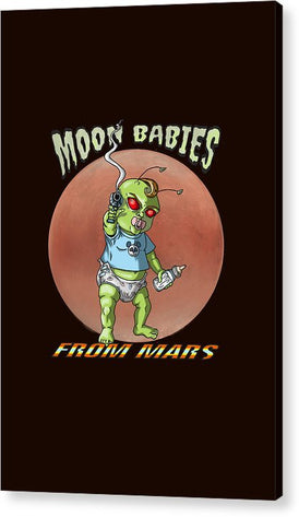 Moon Babies From Mars - Acrylic Print - Hebkid Art