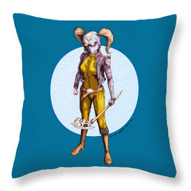Psycho Hockey Vampire Pirate - Throw Pillow - Hebkid Art