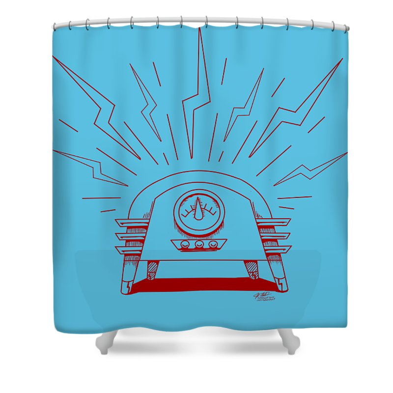 Radio Cure - Shower Curtain - Hebkid Art