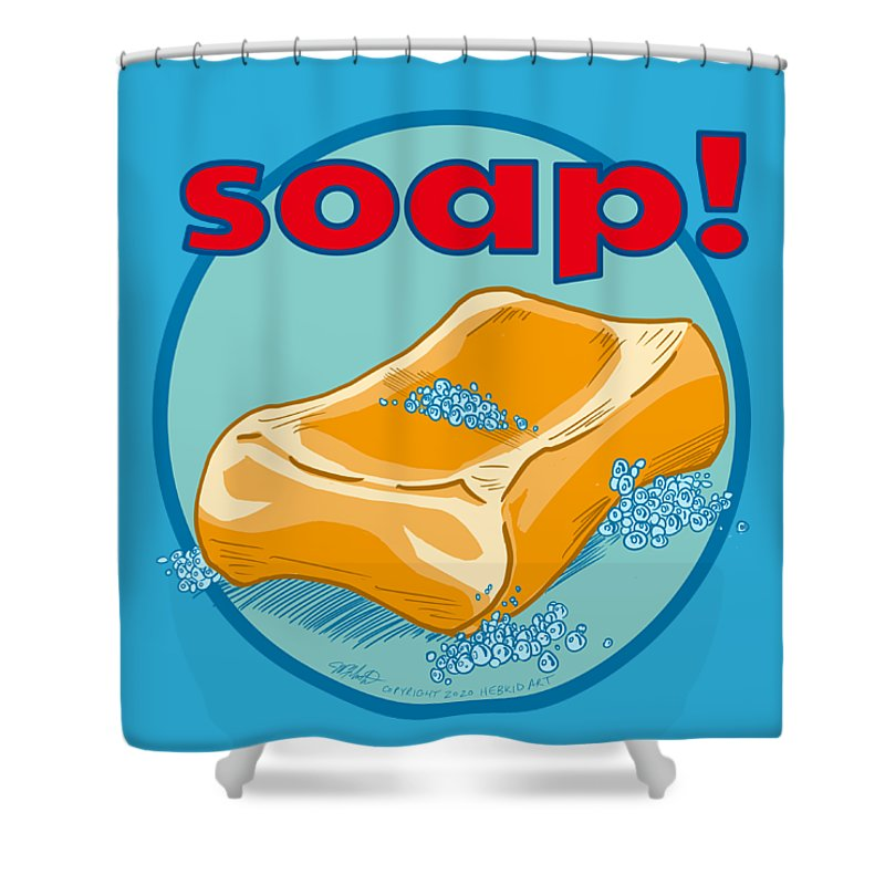 Soap - Shower Curtain - Hebkid Art