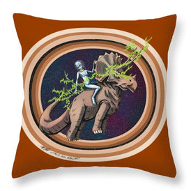 The Rings Of Saturn - Throw Pillow - Hebkid Art