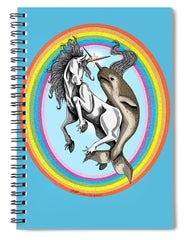 Unicorn vs Narwhal - Spiral Notebook - Hebkid Art