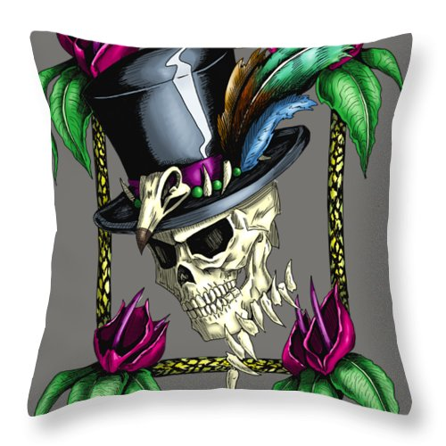 Voodoo King - Throw Pillow - Hebkid Art