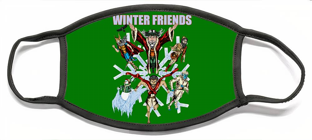 Winter Friends - Face Mask - Hebkid Art