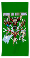Winter Friends - Beach Towel - Hebkid Art