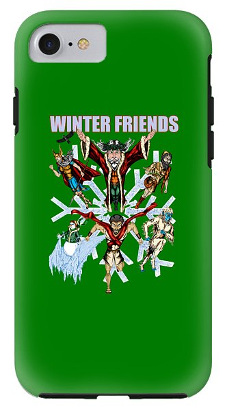 Winter Friends - Phone Case - Hebkid Art