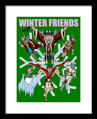 Winter Friends - Framed Print - Hebkid Art