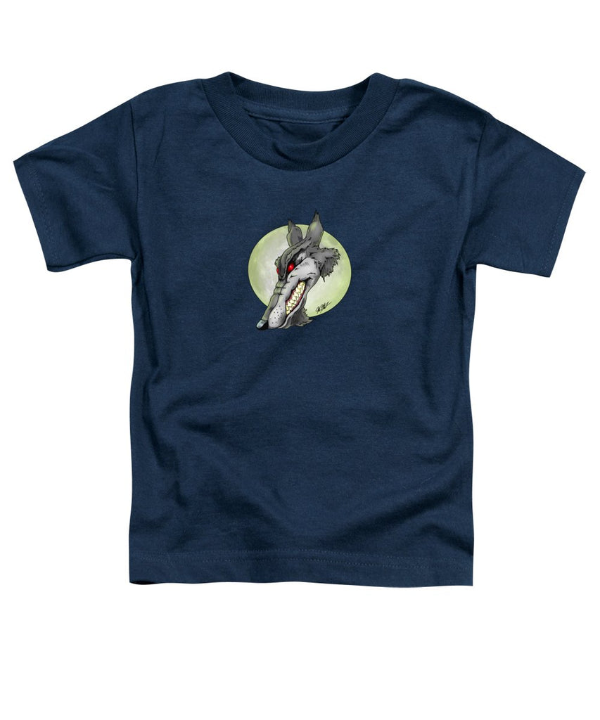 Wolf Moon - Toddler T-Shirt - Hebkid Art