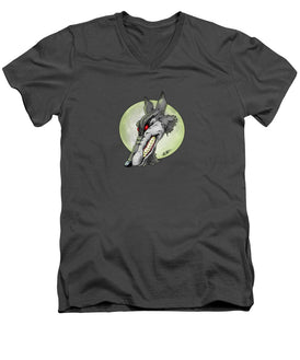 Wolf Moon - Men's V-Neck T-Shirt - Hebkid Art