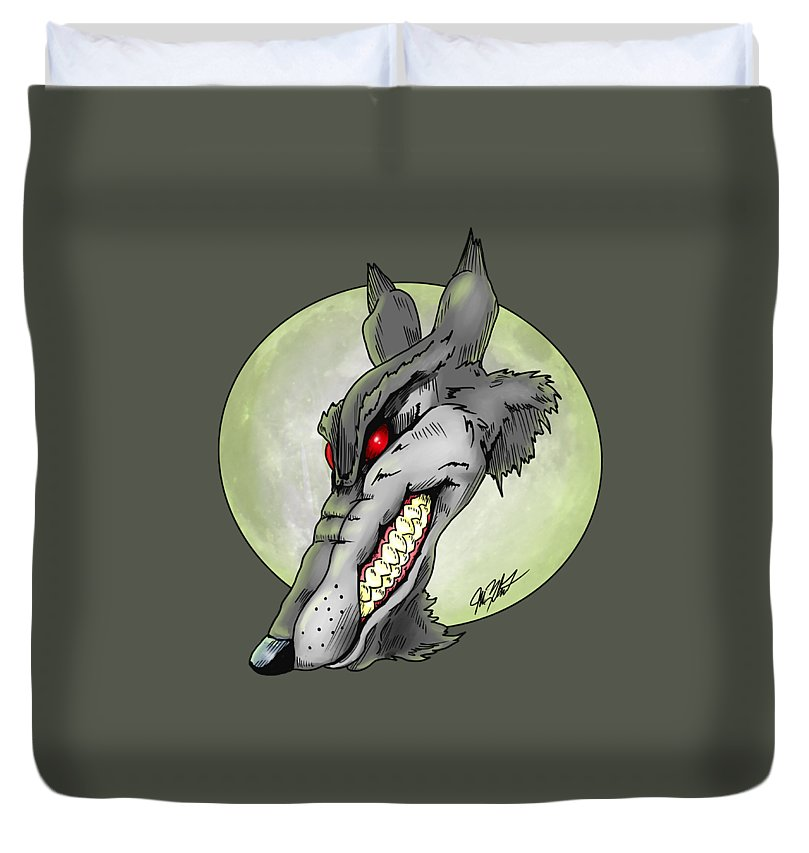 Wolf Moon - Duvet Cover - Hebkid Art